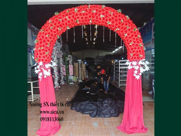 Giá bán cổng hoa cưới , hoa hồng màu đỏ