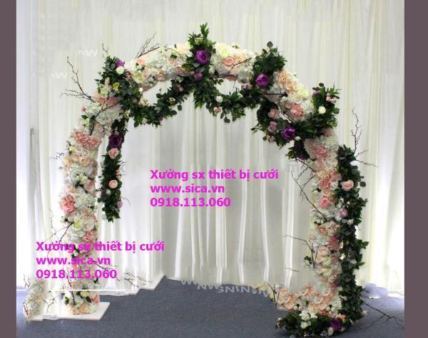 Cổng hoa đám cưới mới đẹp nhất, cao cấp