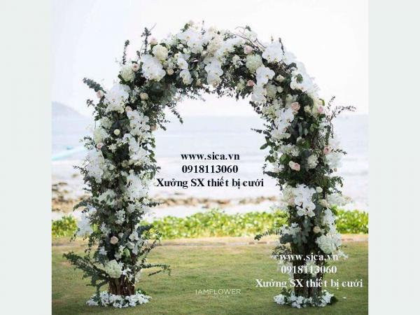Xưởng bán cổng hoa cưới mới đẹp giá rẻ
