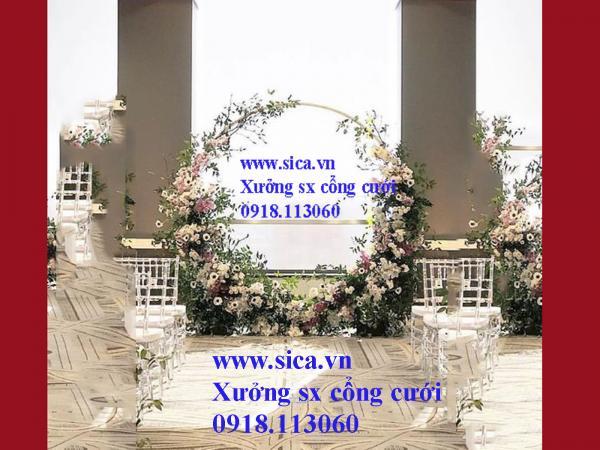 Cổng hoa cưới mới lạ