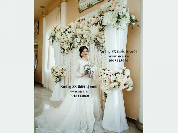 Nơi sản xuất bán bộ sưu tập cổng hoa vải gia giả