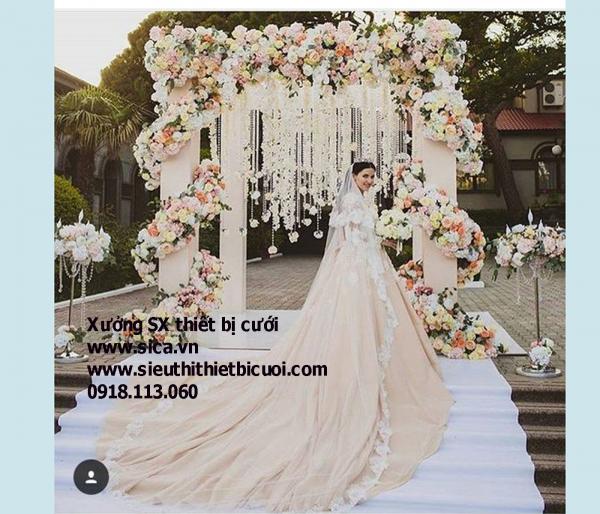 Cổng hoa cưới xoắn, hoa sang trọng cao cấp nhất