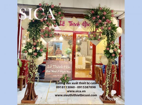 Điểm bán cổng hoa rạp cưới giá rẻ tại TPHCM
