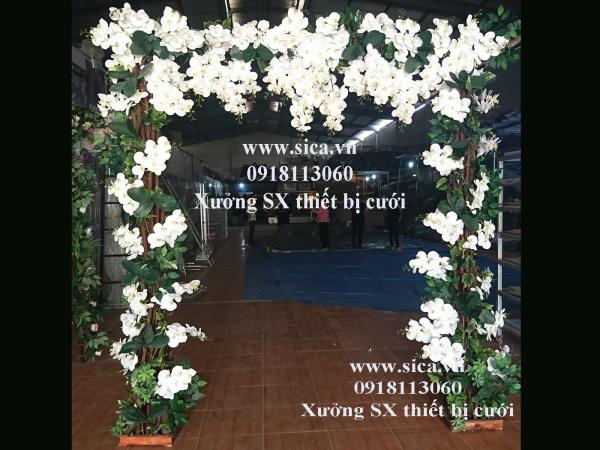 Cổng cưới hoa lan trắng cao cấp
