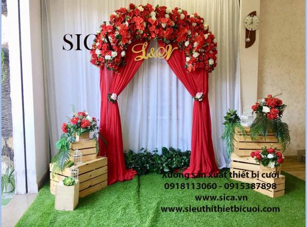 Giá bán cổng hoa đơn giản