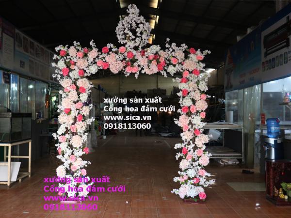 Cung cấp cổng hoa đám cưới phong cách sang trọng