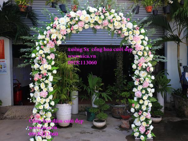 Cổng cưới hoa hồng cao cấp