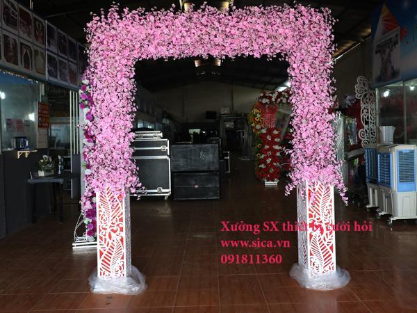 Cổng cưới hoa anh đào khung foam mỹ thuật độc đáo
