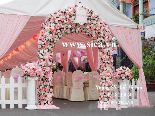 Cung cấp mua bán trụ hoa la mã lối đi màu hồng