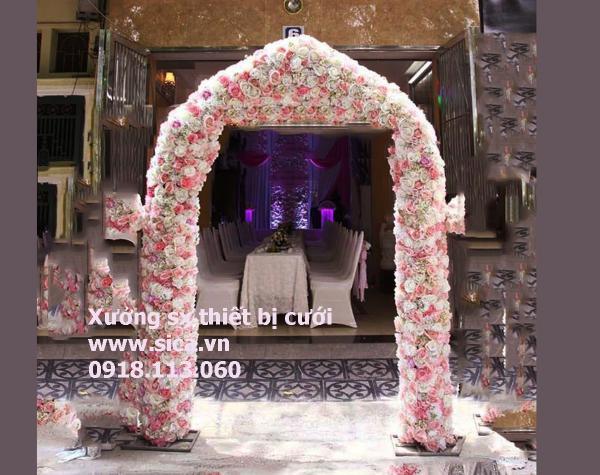 Sản xuất mua bán cổng hoa đám cưới mới lạ