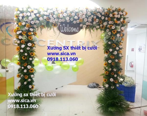 Cổng hoa đám cưới mới đẹp nhất, cổng hoa hướng dương