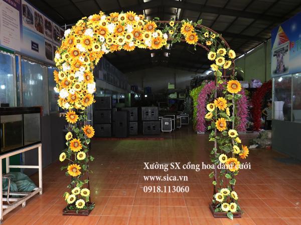 Cổng cưới hoa hướng dương đẹp