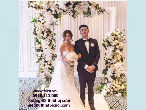 Cổng hoa đám cưới mới đẹp