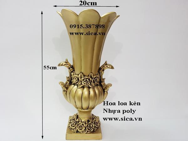 bình hoa poly cổ điển hoa sen
