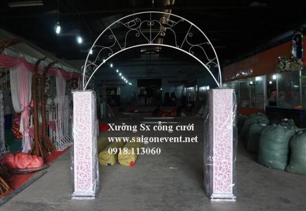 Khung cổng cưới chân foam cao chưa kết hoa
