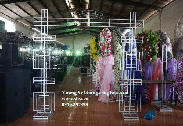 khung cổng cưới chử Hỷ, chưa kết hoa