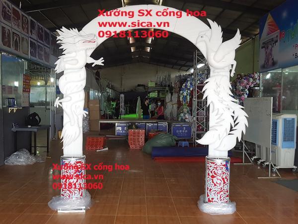 Khung cổng cưới rồng phụng