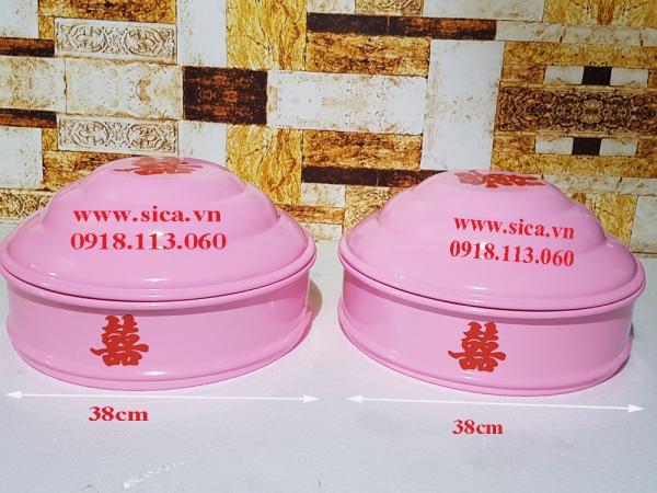 Mâm quả màu hồng 38cm