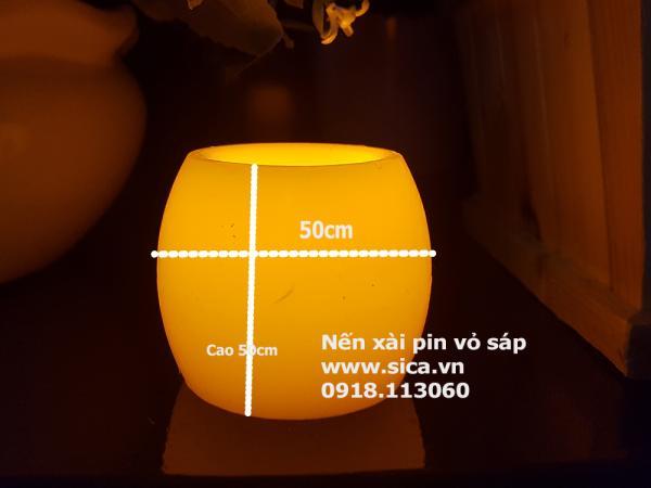 Cung cấp nến nến xài pin vỏ sáp,  hình quả trứng