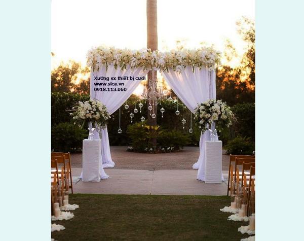 Bán bộ cổng hoa đám cưới và chân hoa mới đẹp, sang trọng