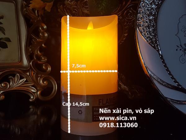 Cung cấp nến xài pin vỏ sáp, cao 14,5cm