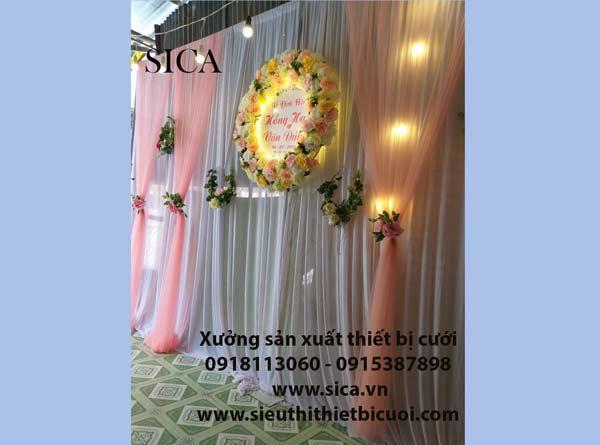 Bán các loại vải và gia công may rèm màn trang trí cưới
