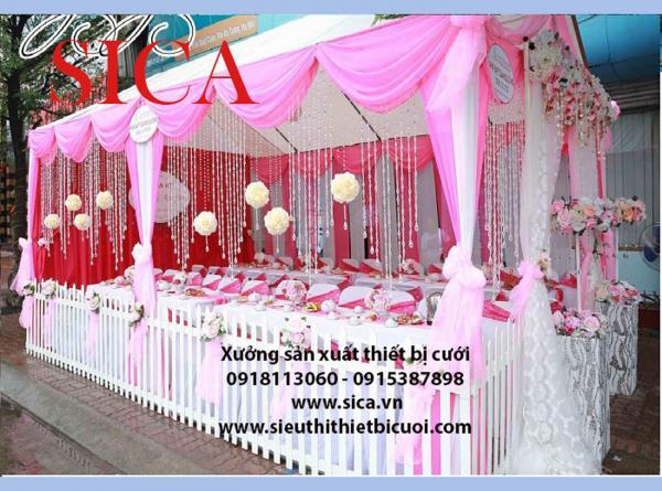 Chổ bán rạp cưới và rèm màn trang trí