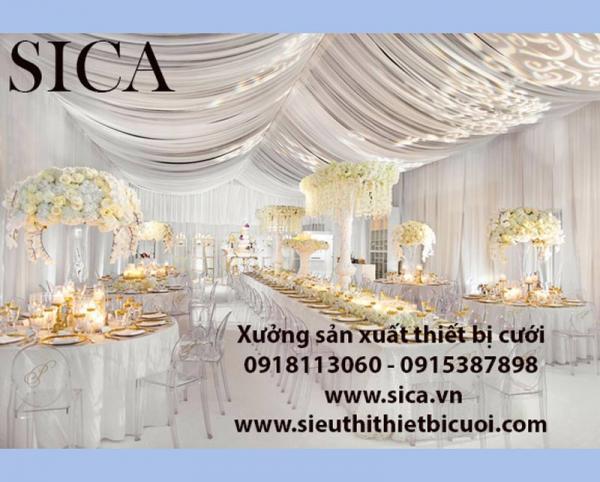 Giá bán rèm màn trang trí rạp cưới