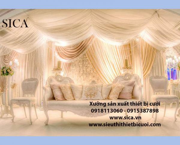 Chuyên bán vải trang trí rạp đám cưới mới đẹp