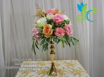 Bình hoa mạ kim