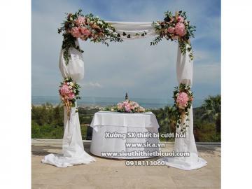 Cổng hoa tinh tế vè trang nhã tuyệt đẹp