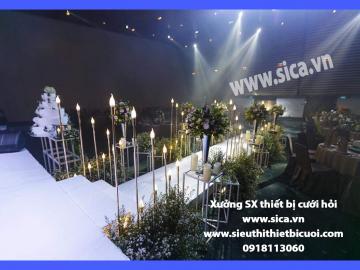 Chân đèn lối đi sân khấu đám cưới