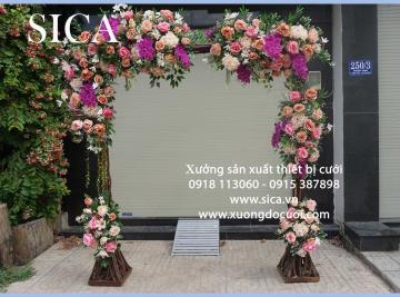 Cổng cưới kết hoa mẫu mới rẻ đẹp