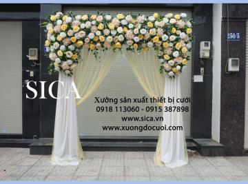 Cổng cưới kết hoa mới nhất giá rẻ