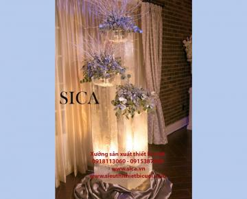 Xưởng bán chạn trụ hoa đám cưới mới nhất