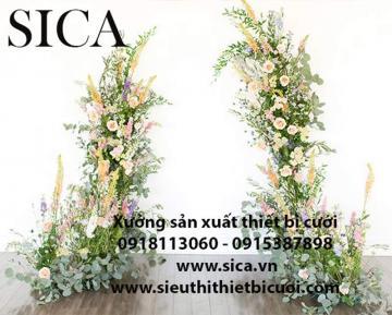 Xưởng bán cột hoa trang trí nhà hàng tiệc cưới