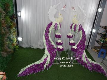 Bán cặp cổng cưới thiên nga, chim công đám cưới