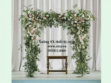 Cổng cưới hoa cỏ mới lạ đẹp