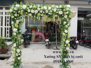 Cổng hoa cưới mới đẹp, phong cách hiện đại