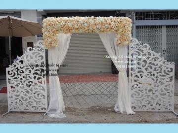 Cổng hoa cưới kết hợp tấm CNC