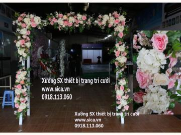 Cổng hoa cưới mẫu mới đẹp sang trọng