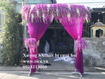 Cổng hoa cưới lan tím