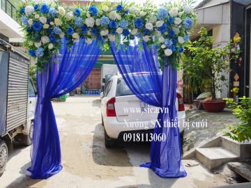 Bán công hoa đám cưới chân voan xanh bích