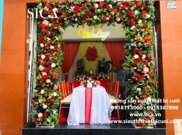 Nơi bán cổng hoa tự nhiên đơn giản