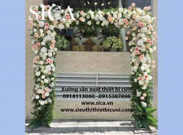 Giá bán cổng cưới đơn giản đẹp tự nhiên