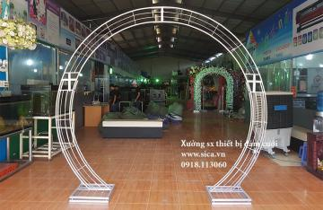Khung cổng cưới bầu tròn