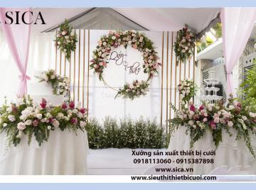 Thiết kế bán sân khấu đám cưới