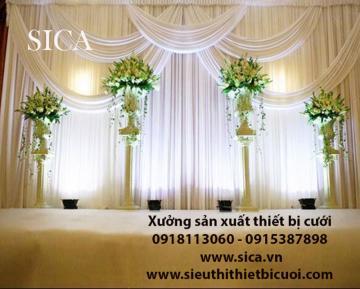 Chuyên may rèm màn trang trí sân khấu cưới