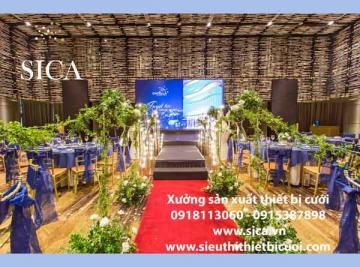 Nơi thiết kế sân khấu đám cưới cho nhà hàng tiệc cưới