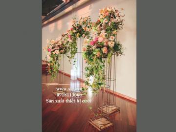 Nơi bán trụ hoa lối đi trang trí đám cướij